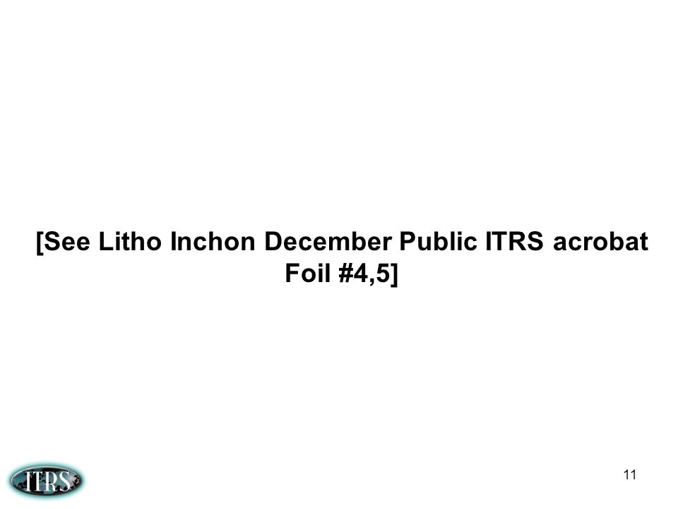 [See Litho Inchon December Public ITRS acrobat